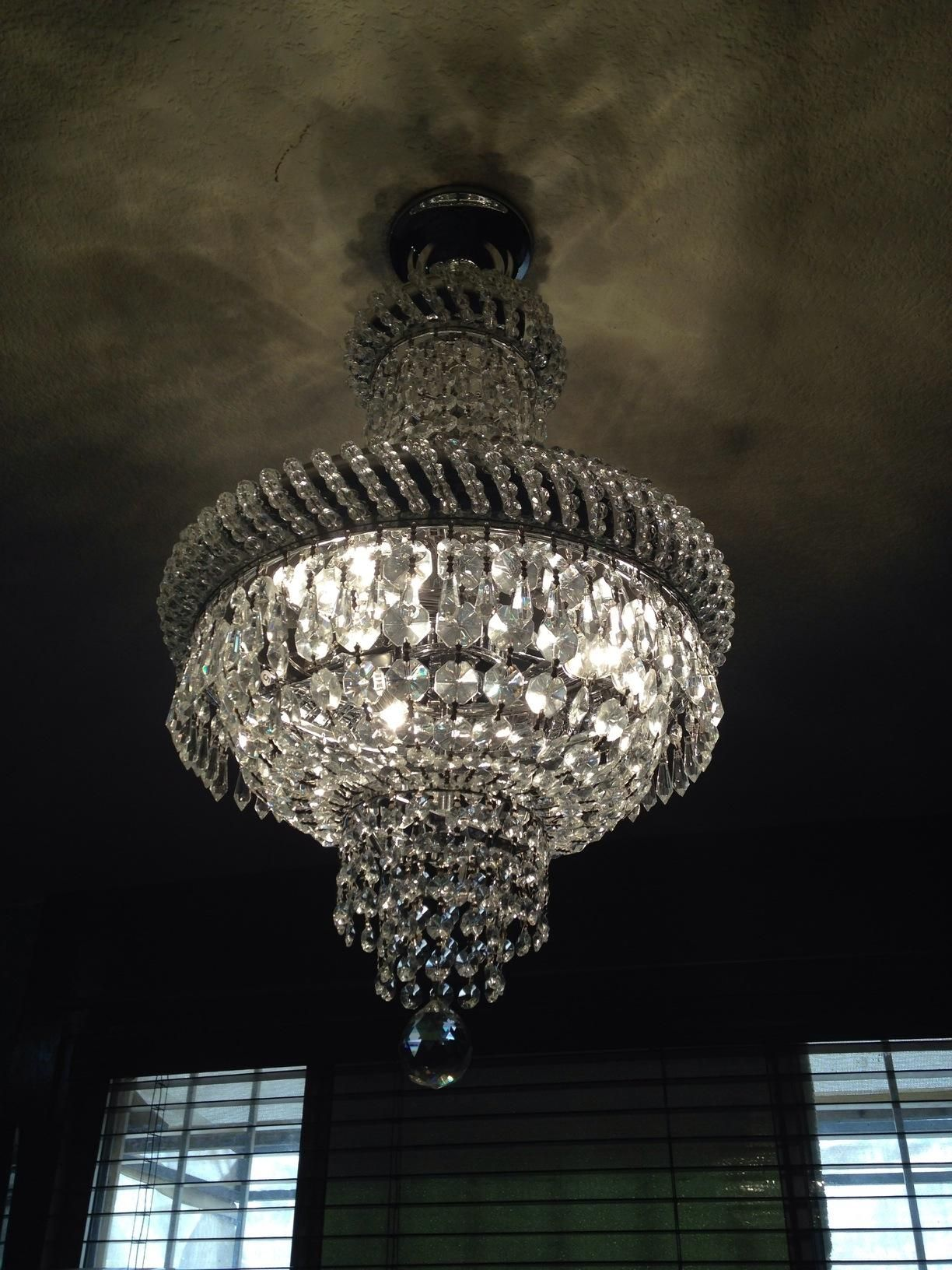 French Empire Crystal Chandelier Chandeliers Lighting Silver H22