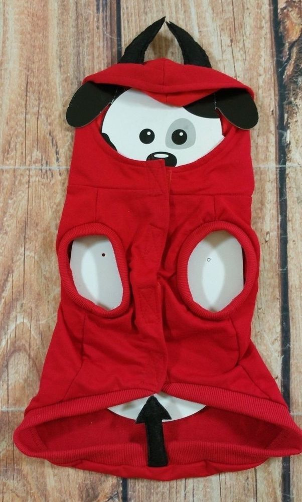 Red Devil Dog Halloween Costume Spooky Dog Gear Size Large 145\