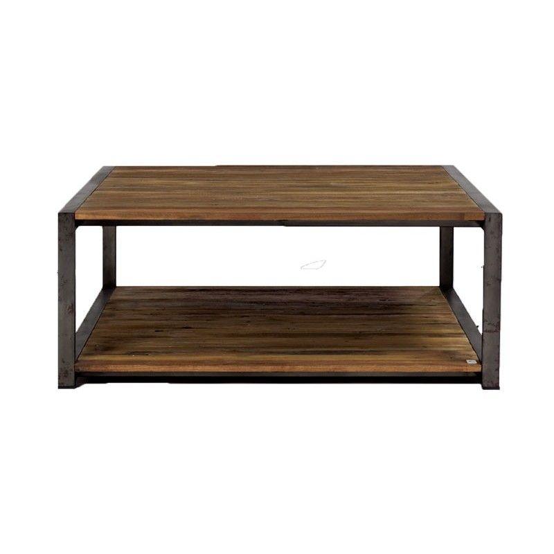 Table Basse Rectangulaire 140 Cm 2 Plateaux Factory Table Basse Bois Table Basse Et Table Basse Rectangulaire