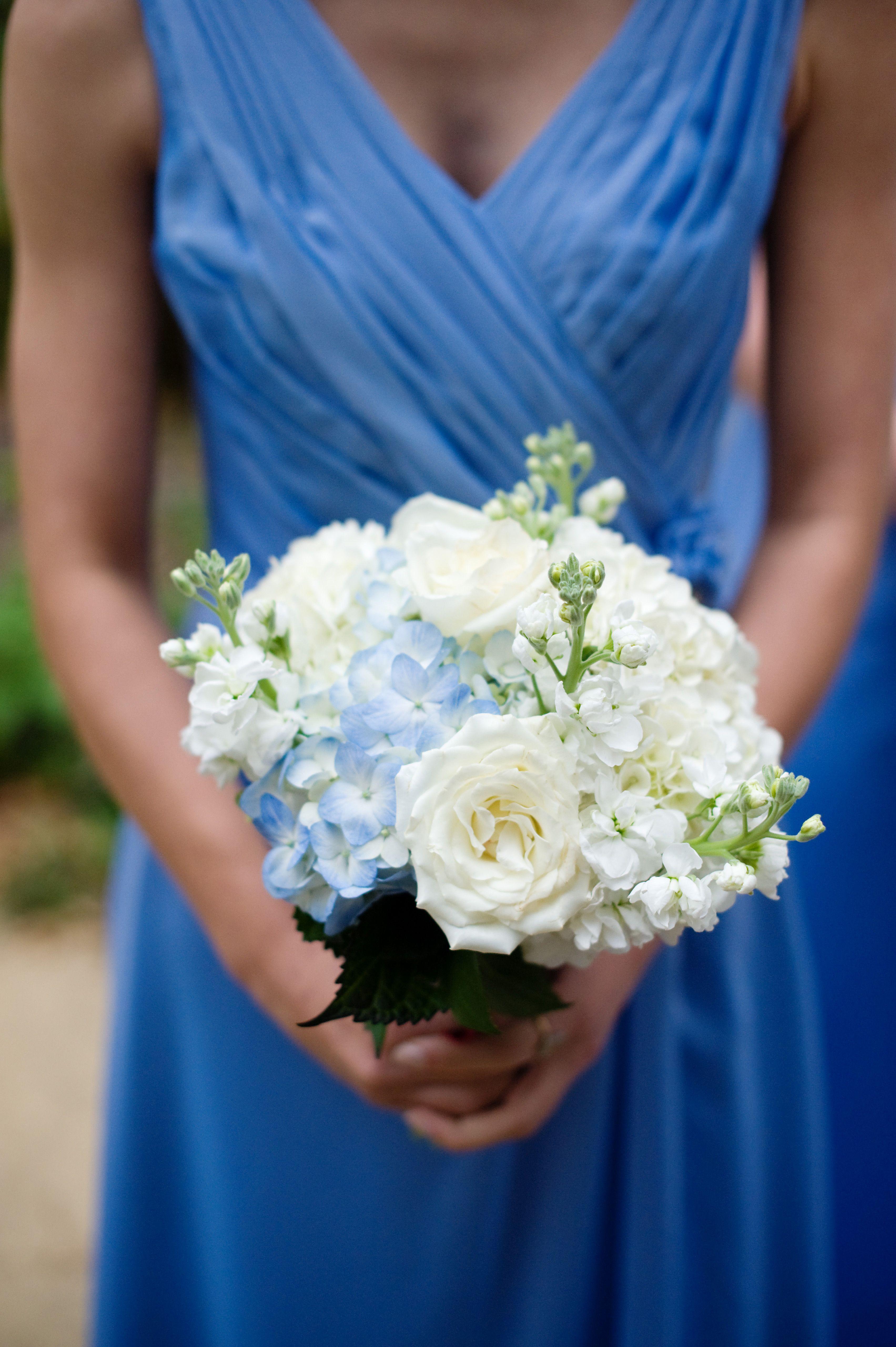 Bridesmaid Bouquet Light Blue Dress Wedding Bridal Bouquets
