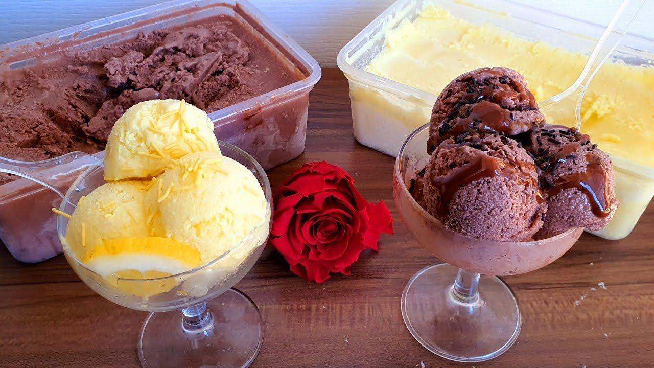 عندك حامضة وحدة ولتر حليب وجدي أرخص آيس كريم بدون كريمة ولا شانتيي لاطر Ice Cream Food Desserts