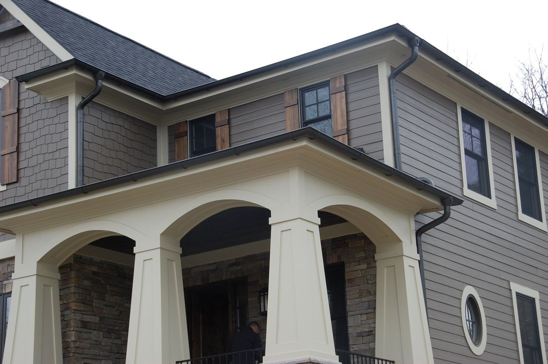 Lovely Bronze Gutters 4 Half Round Copper Gutters House Exterior Exterior House Colors Gutters