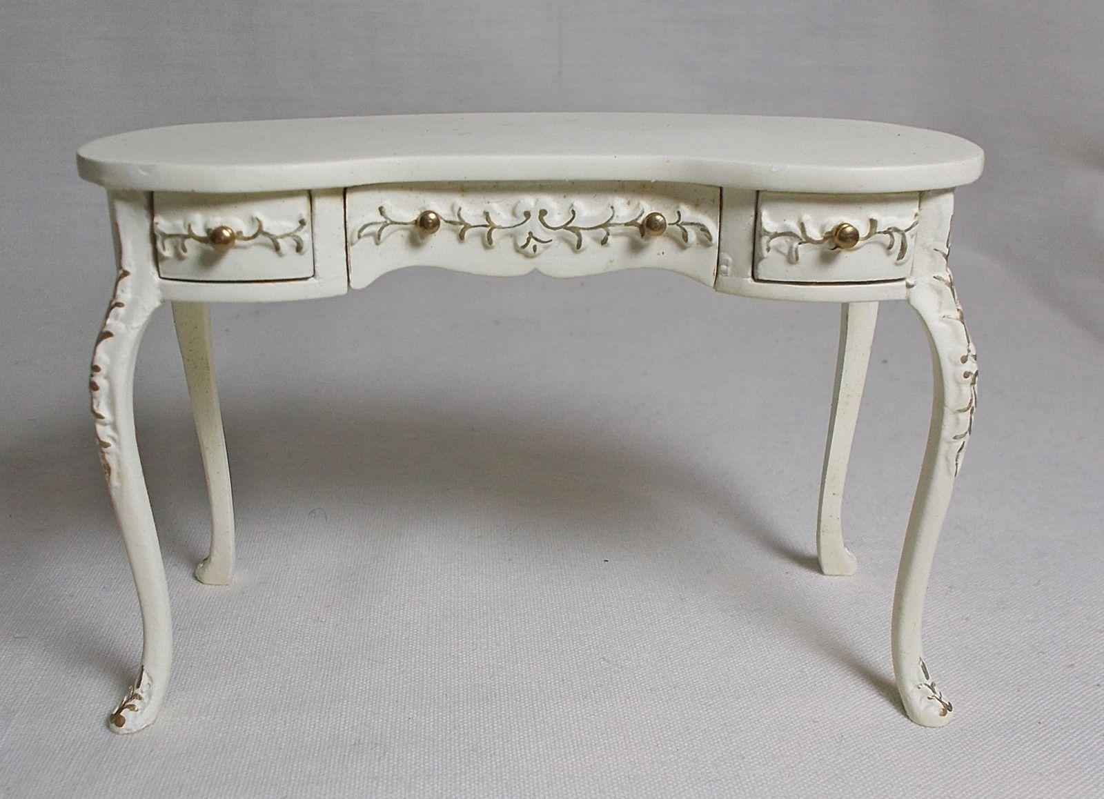 Dolls House Miniatures Handpainted JiaYi Kidney Desk / Side / Dressing  Table   EBay