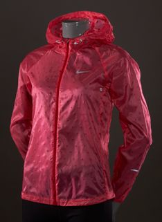 d377cc6c90a5f Nike Womens Cyclone Jacket - Womens Running Clothing - Geranium-Gym Red-Reflective  Silver