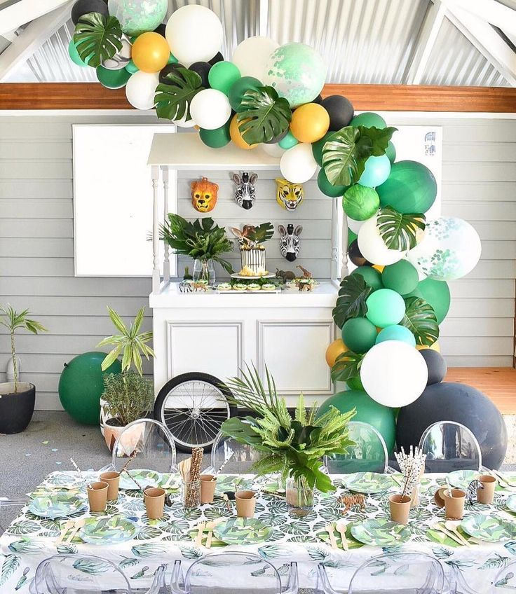 Jungle themed First Birthday Party Ideas #babyboy1stbirthdayparty