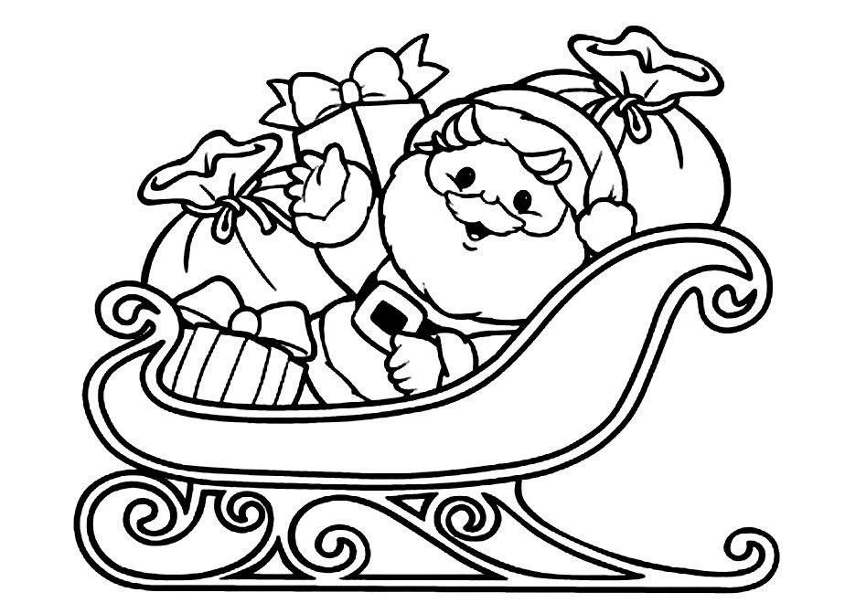 Pin by Shreya Thakur on Free Coloring Pages | Santa ...