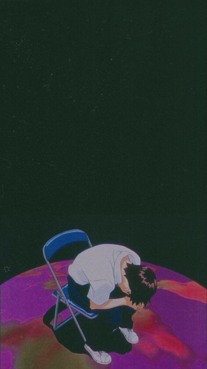 Anime Lockscreen Wallpaper Neon Evangelion Evangelion Art Aesthetic Anime