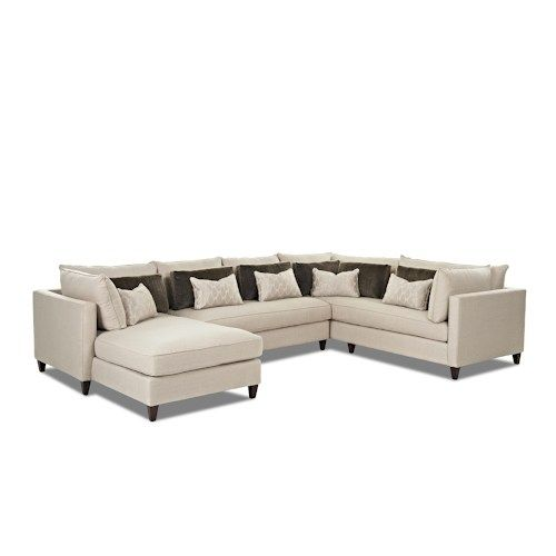 Klaussner Arianna Modern Sofa Sectional with Left Facing Chaise