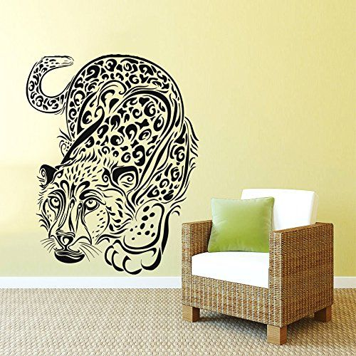 Wall Decals Leopard Print Wild Cat Wildcat Animals Panther Tiger Bedroom  Vinyl Sticker Wall Decor Murals