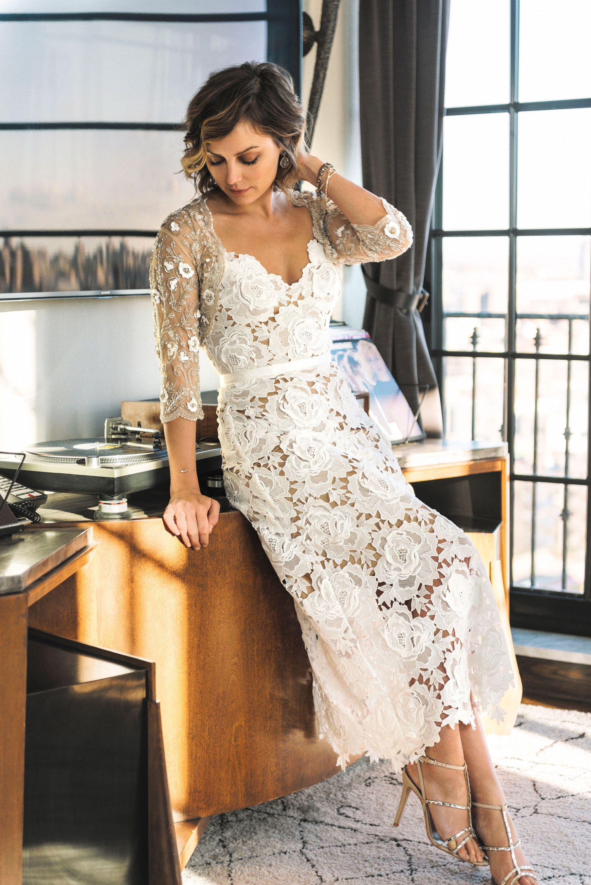 The Glamourai looked stunning in romantic lace & subtle sparkle for ...