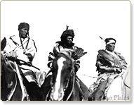 Blackfoot Indians dressed in Hbc blankets ca. 1925 - HBCA 1987/363-W-114/1