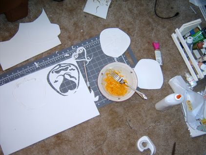 How To Spray Paint Craft Foam Seal First With Glue Also A Pretty