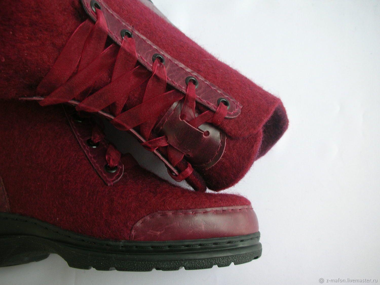 847df3f3c Обувь ручной работы. Ботинки валяные Бордо. Жанна Матафонова 'Уютный  войлок'. Ярмарка