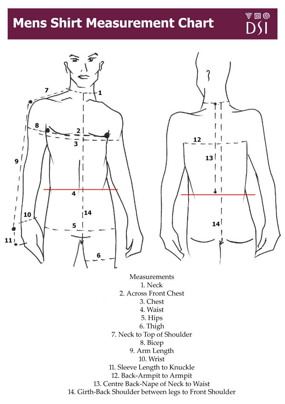 Men's Shirt Measurement Chart | Fashion | Pinterest | Shirts and ...