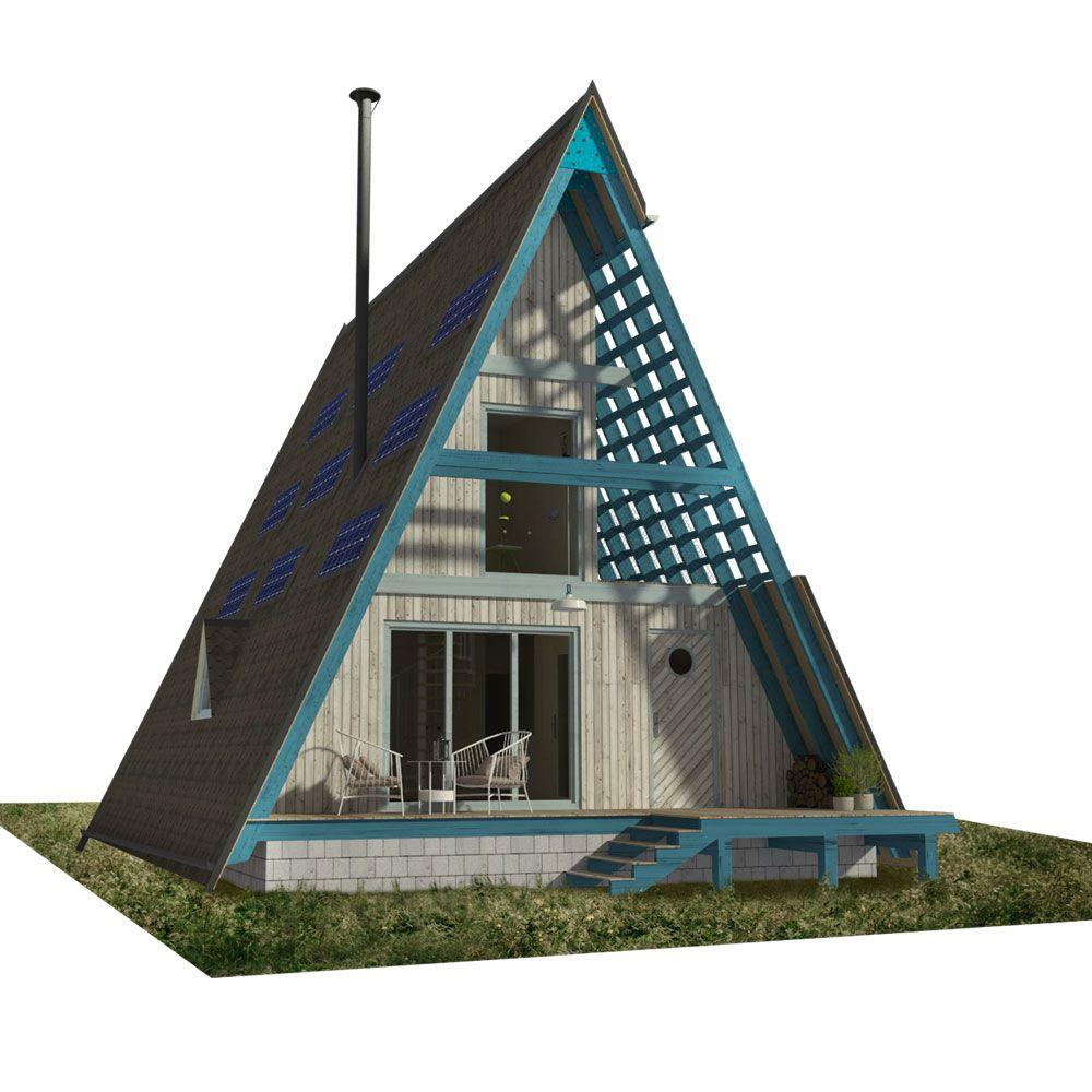 Modern A-Frame House Floor Plans