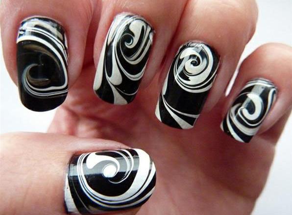 Black And White Nail Designs For Short Nails Gel Nail Polish