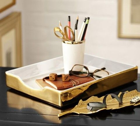 Lacie Desk Accessories | Gold-plated trim ceramic desk accessories, Which room would you put this in? http://keep.com/lacie-desk-accessories-gold-plated-trim-ceramic-desk-accessories-by-amy-n/k/1fmAukABCo/