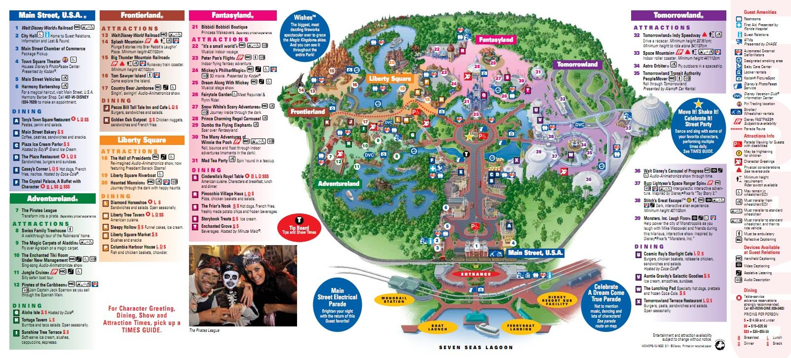 Magic Kingdom Map View A Free Printable Pdf Disney World Map View The Main  Attractions At