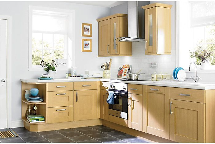 It Oak Style Shaker  Kitchen Ranges  Kitchen  Rooms  Diy At Impressive B & Q Kitchen Design Decorating Design