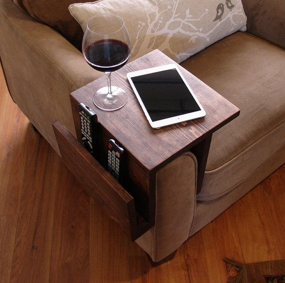 Simply Awesome Couch Sofa Arm Rest Wrap Tray Table With Side Storage Slot Home Decor Cool Couches Decor