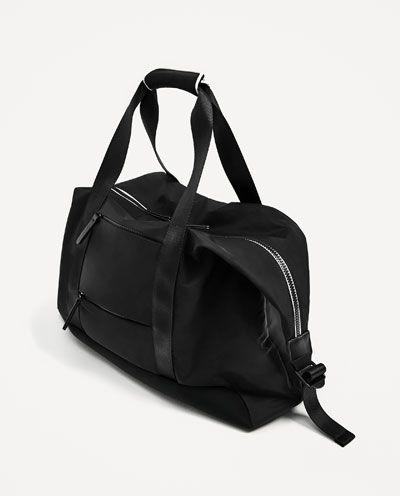 e26748a6c9 Image 2 of BLACK SPORTS DUFFLE BAG from Zara | Beautiful Bags | Bags ...