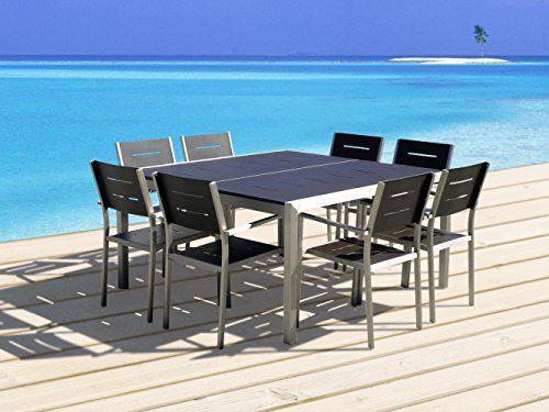 mango home 9 piece aluminum resin outdoor patio wicker square dining