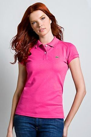 0bd5e580 Brand New Authentic Factory Overrun Lacoste Women's Short Sleeve  Non-stretch Pique Polo Color: Hot Pink Php