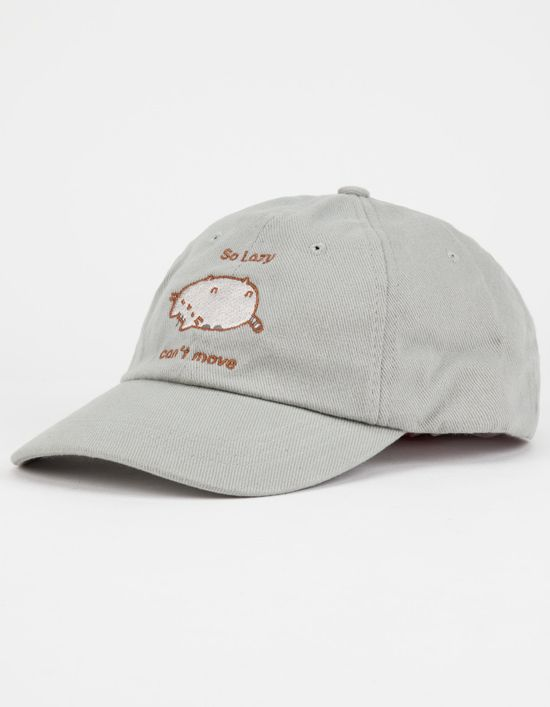 25f6db0eaaa Pusheen Dad Hat baseball cap! Pusheen dad hat. Says  So lazy. Can t move.  Pusheen patch on the front. Velcro strapback. affiliate link.