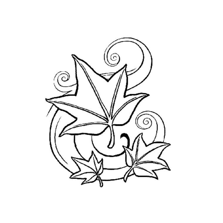 pin coloriage feuilles dautomne emportes par le vent on pinterest - Dessin De Feuille
