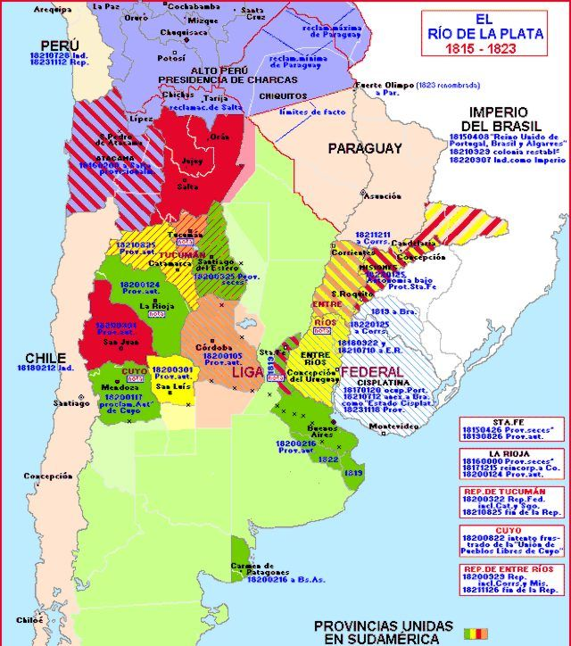 Río De La Plata 1815 1823 Mapa Historico Mapa De Argentina Cartografía