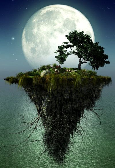 Floating Island By Kouki1 On Deviantart Fantasy Landscape Fantasy Art Landscapes Landscape Illustration