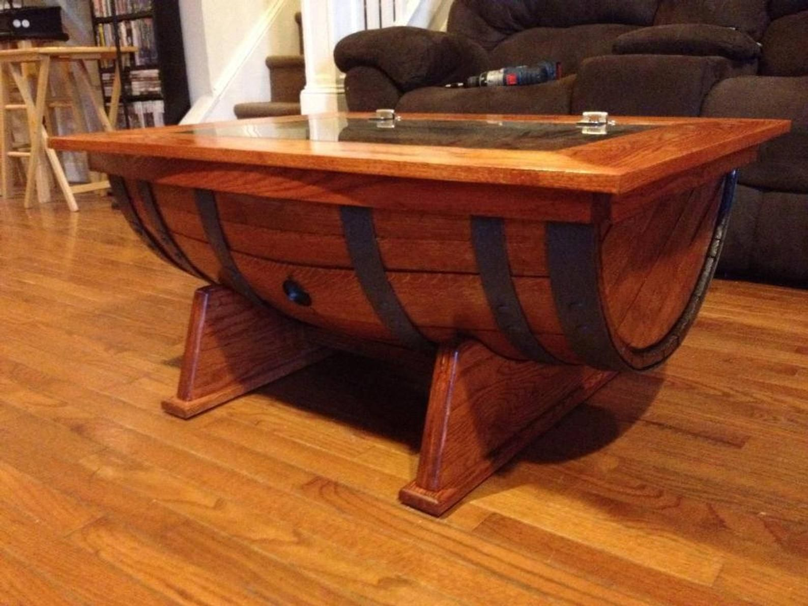 40+ Wine barrel coffee table plans inspirations