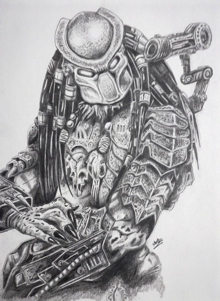 Predator By Xpendable On Deviantart In 2021 Predator Artwork Alien Drawings Predator