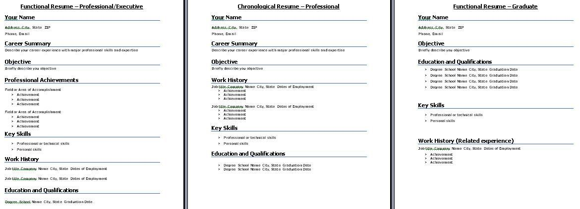 Resume Format Job Interview Chronological resume