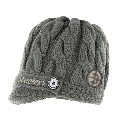 ec8fba49 Pittsburgh Steelers Women's '47 Brand Skybox Soft Visor Knit Hat ...