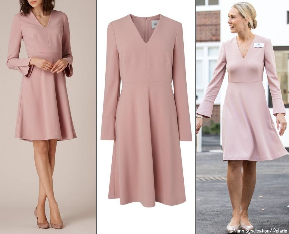 It Turns Out She Was In A Frock From Lk Bennett The Retailer S Amana Dress Fashion Dresses Kate Middleton Dress