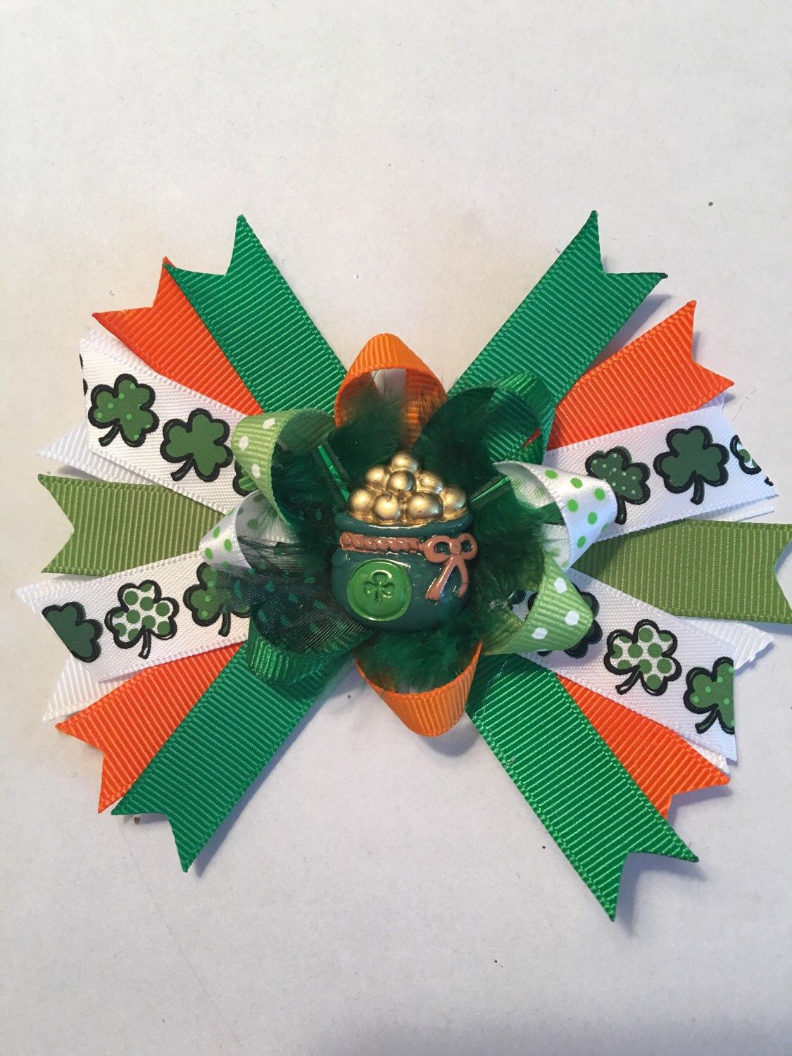 A personal favorite from my Etsy shop https://www.etsy.com/listing/269689250/pot-of-gold-hair-bow
