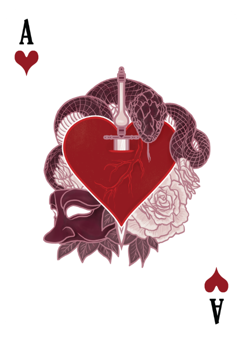 the count of montecristo playing cards ace of hearts