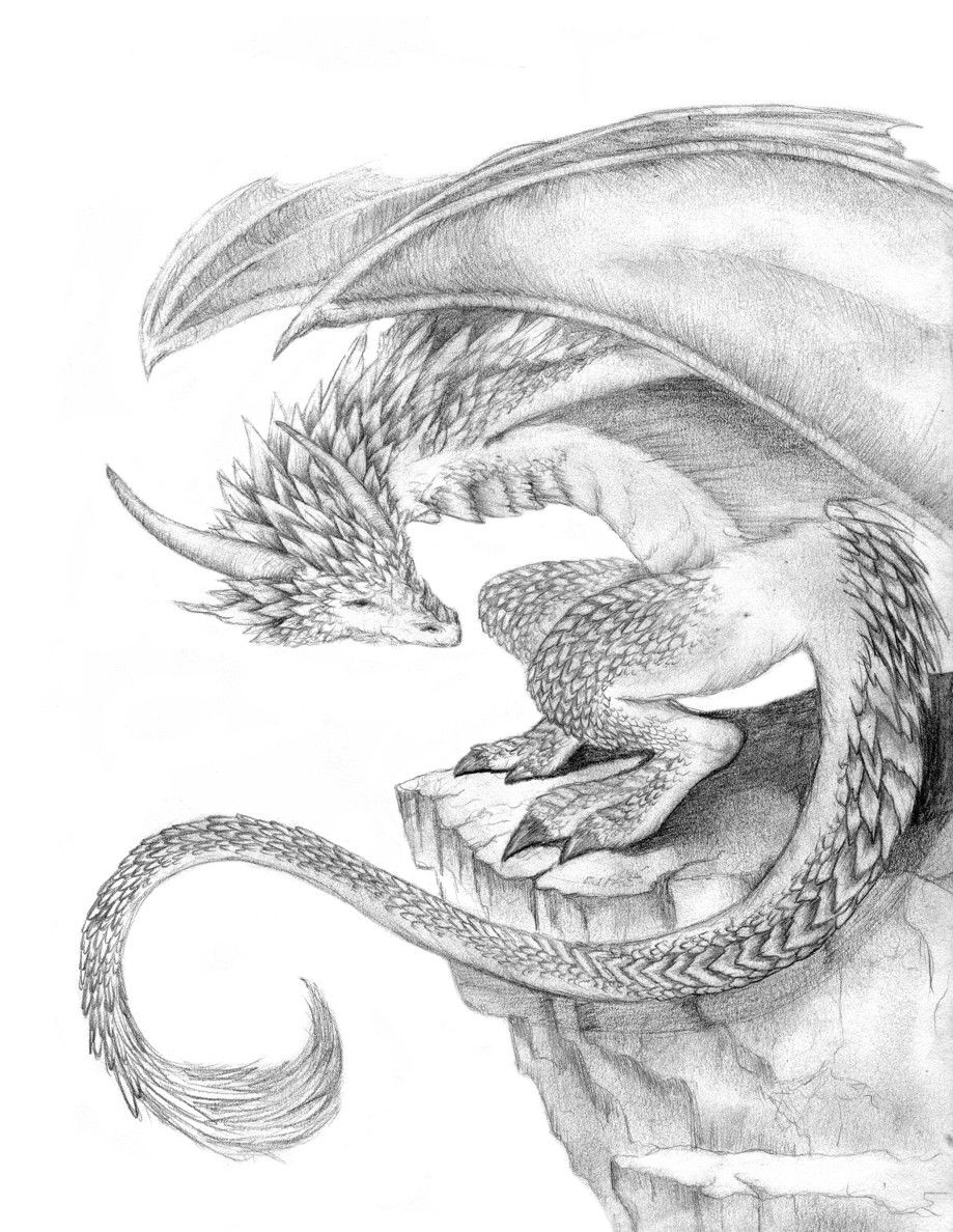 This is such a beautiful drawing of a dragon