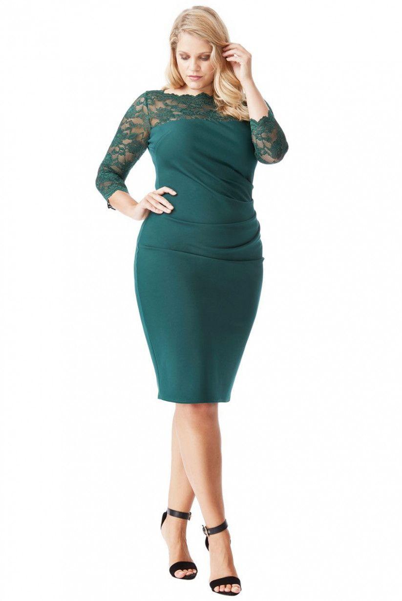 15 grüne kleider in großen größen | modische outfits