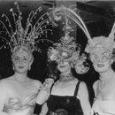 1950 January with Lana Turner and Loretta Young at a masked ball in favor of the St.John's Hospital