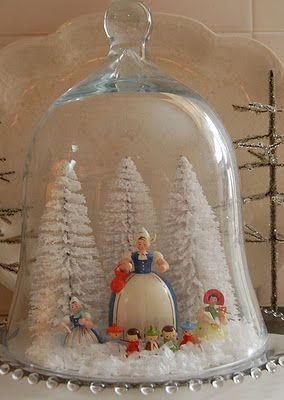 Coisas giras!: As campanulas ou redomas na decoração de Natal