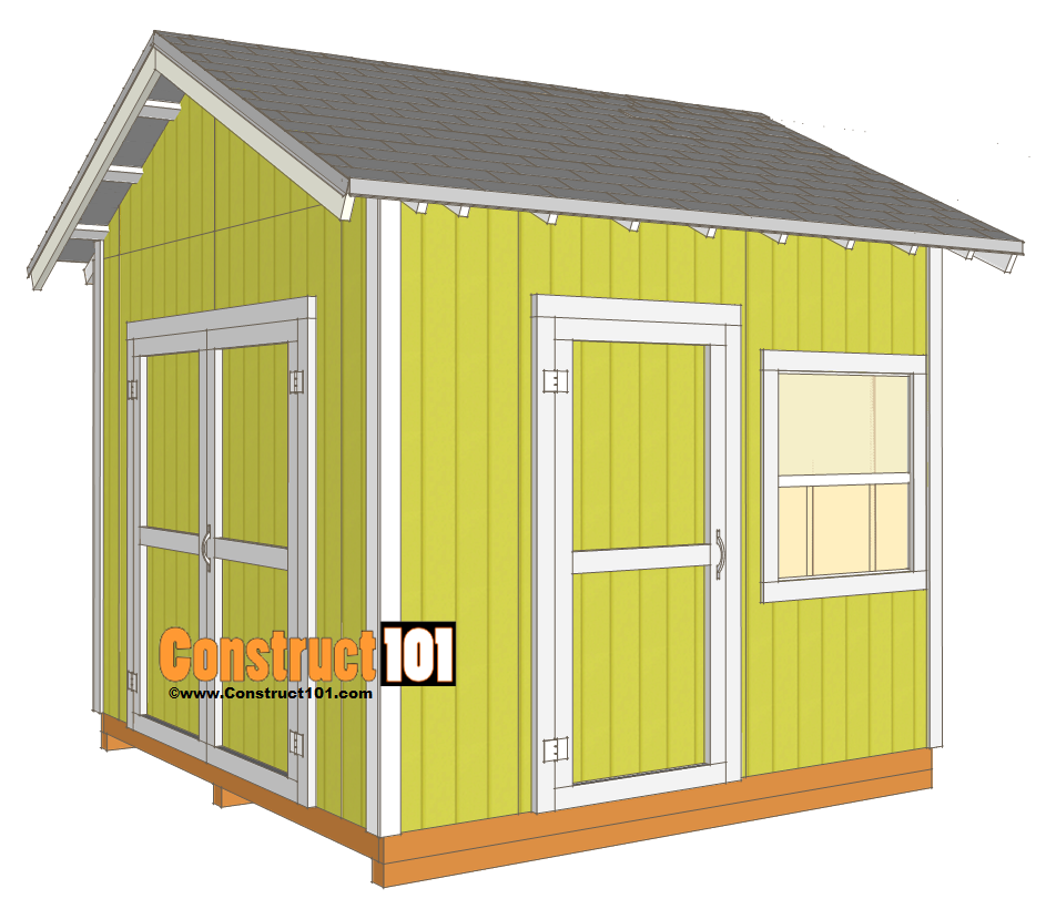 10x10 Shed Plans Gable