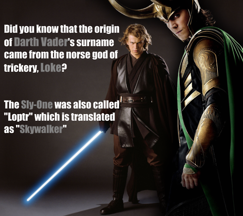 Cool! Ya hear that? Loki is freaking Darth Vader! AKA Anakin who was my first bad guy crush!!!!