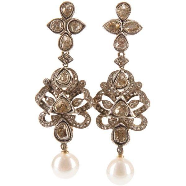 Petralux emerald and diamond vintage style earrings - Metallic RZ3WdRjF