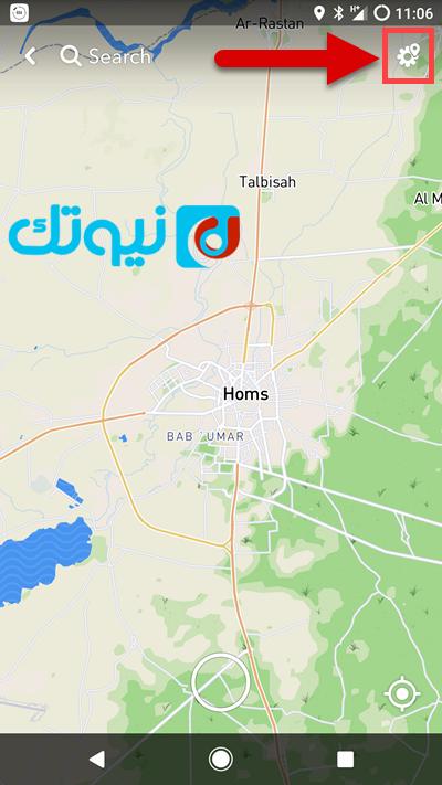 تلميحة حول طريقة إخفاء موقعك من على خريطة سناب شات نيوتك New Tech Map Map Screenshot Bab