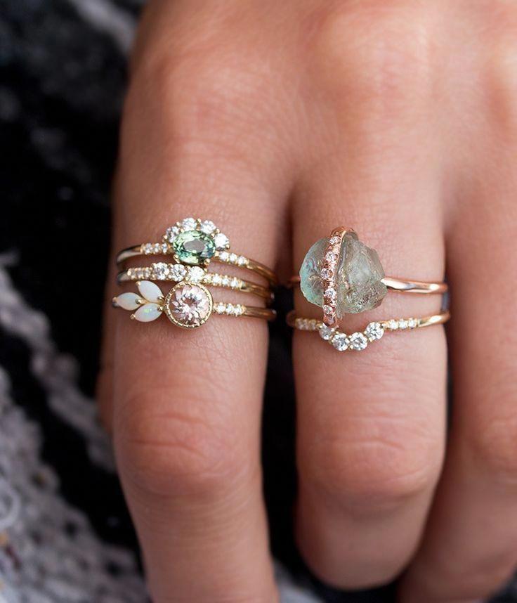 Akoya pearl engagement ring 14k white gold wedding ring