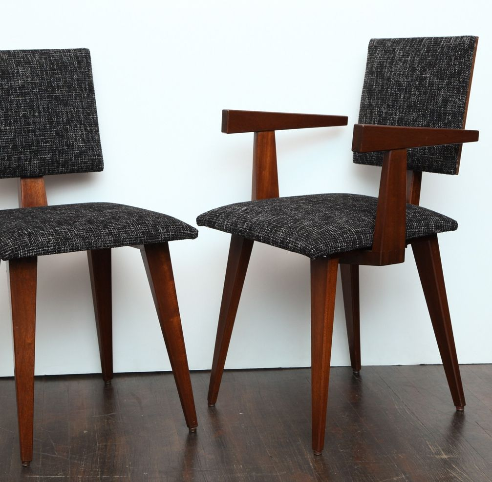 André sornay mahogany and oregon pine dining chairs c andré