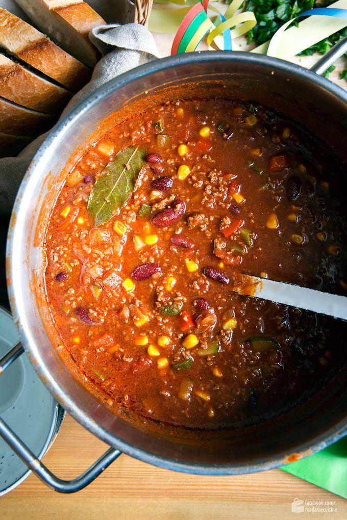 Chili con Carne: Perfekter Party-Eintopf - Madame Cuisine