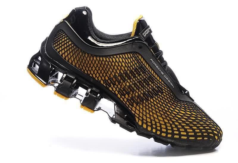 Cheap Classic Adidas Porsche Design S3 Official Men Running Shoes 2014 Black Yellow